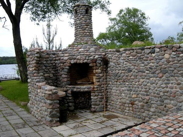 Кладка каменных барбекю печка-барбекю